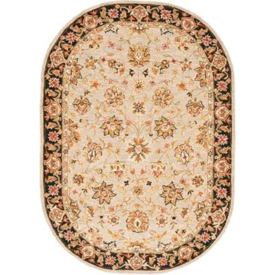 Helena Floral Rug Rug Size: Oval 76 x 96