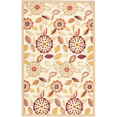 Helena Ivory/Taupe Area Rug Rug Size: Rectangle 39 x 59