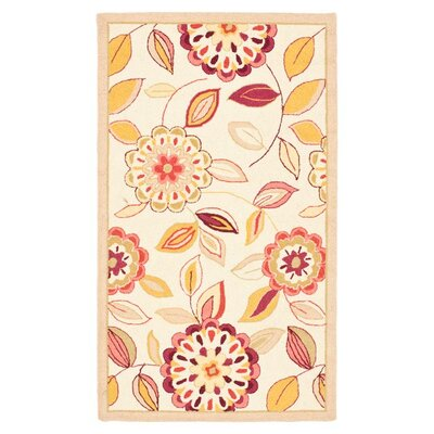 Helena Ivory/Taupe Area Rug Rug Size: Rectangle 29 x 49