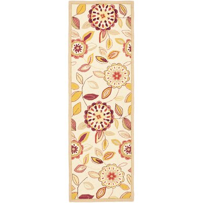 Helena Ivory/Taupe Area Rug Rug Size: Runner 26 x 12