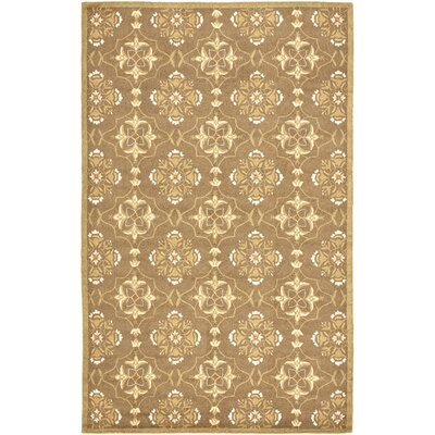 Helena Brown/Green Rug Rug Size: Round 4