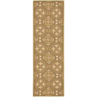 Helena Brown/Green Rug Rug Size: Runner 26 x 12