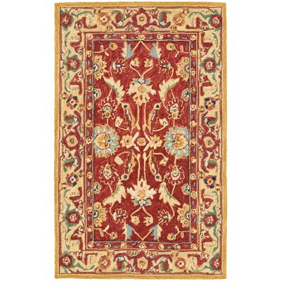 Helena Red/Ivory Area Rug Rug Size: Rectangle 26 x 4
