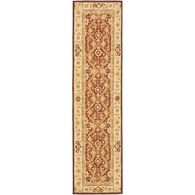 Helena Ivory/Red Area Rug Rug Size: Runner 26 x 10