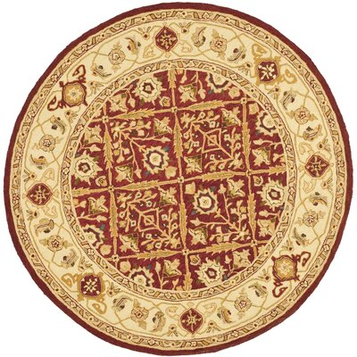 Helena Ivory/Red Area Rug Rug Size: Rectangle 26 x 4