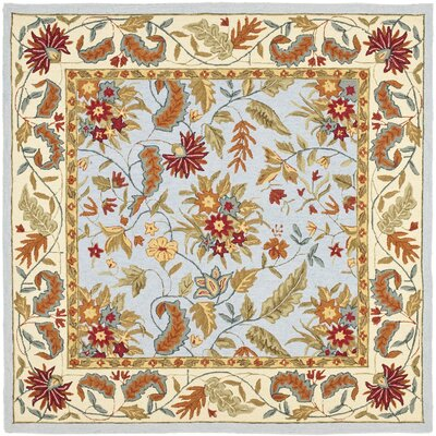 Helena Light Blue Area Rug Rug Size: Square 6