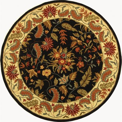 Helena Floral Area Rug Rug Size: Round 4
