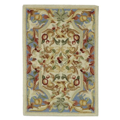 Helena Hand-Hooked Wool Blue Area Rug Rug Size: Rectangle 12 x 26