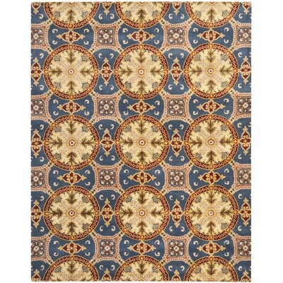 Colesberry Blue/Gold Area Rug Rug Size: 6 x 9