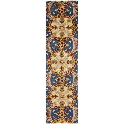 Colesberry Blue/Gold Area Rug Rug Size: Runner 23 x 9