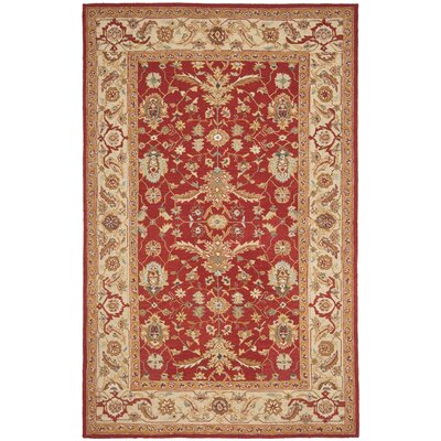 Helena Red/Ivory Area Rug Rug Size: 6 x 9