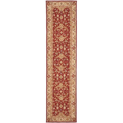 Helena Red/Ivory Area Rug Rug Size: Runner 26 x 10