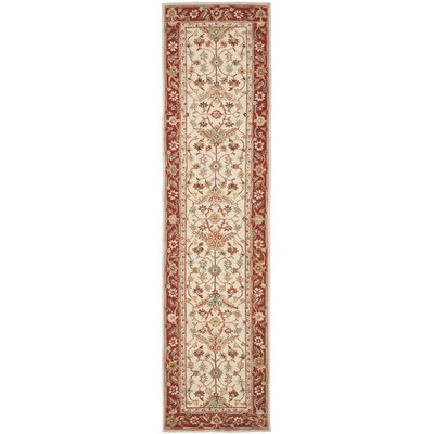 Helena Ivory&Red Area Rug Rug Size: Rectangle 89 x 119