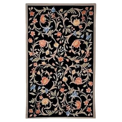 Helena Black Mia Area Rug Rug Size: Rectangle 53 x 83