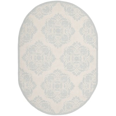 Helena Blue&Ivory Area Rug Rug Size: Rectangle 53 x 83