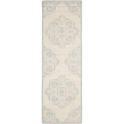 Helena Blue&Ivory Area Rug Rug Size: Runner 26 x 10