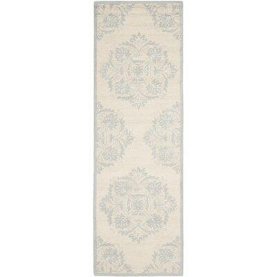 Helena Blue&Ivory Area Rug Rug Size: Runner 26 x 6