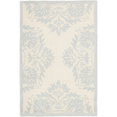 Helena Blue&Ivory Area Rug Rug Size: 53 x 83