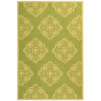 Helena Green/Beige Rug Rug Size: Rectangle 89 x 119