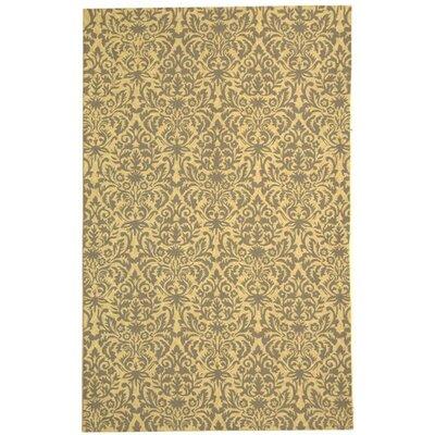 Helena Beige Yellow/Grey Area Rug Rug Size: 39 x 59