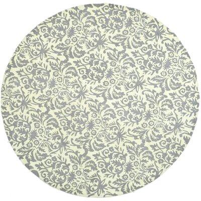 Helena Beige Yellow/Grey Area Rug Rug Size: Round 8