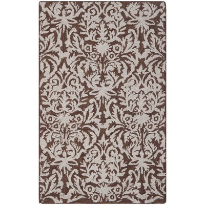 Helena Hand-Hooked Brown/Gray Area Rug Rug Size: Rectangle 79 x 99