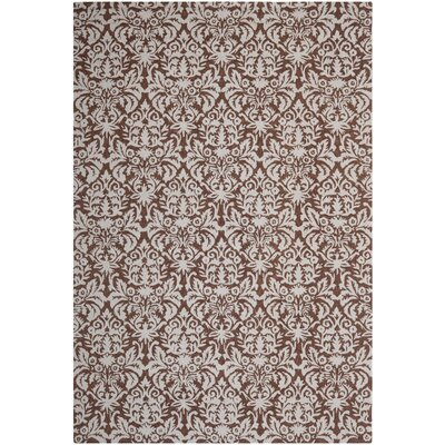 Helena Hand-Hooked Brown/Gray Area Rug Rug Size: Rectangle 89 x 119
