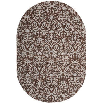 Helena Brown/Gray Rug Rug Size: Oval 46 x 66