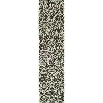 Helena Sage/Chocolate Area Rug Rug Size: Runner 26 x 12