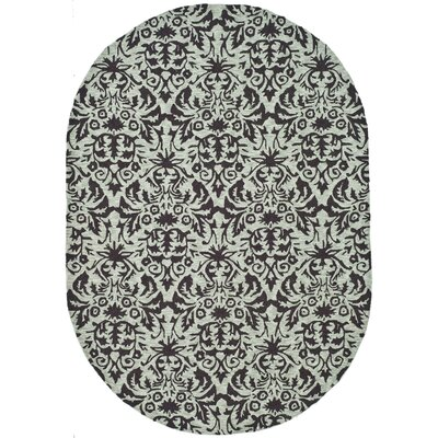 Helena Sage/Chocolate Area Rug Rug Size: Oval 46 x 66