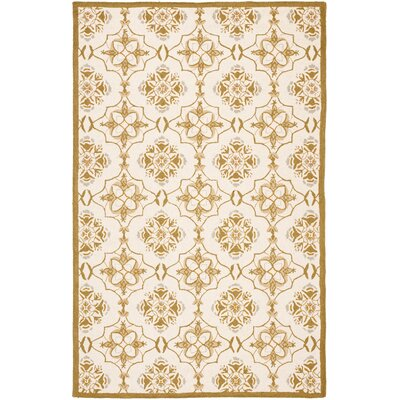 Helena Ivory/Orange Area Rug Rug Size: Rectangle 79 x 99