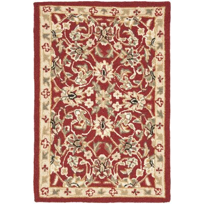 Helena Burgundy/Ivory Area Rug Rug Size: Rectangle 18 x 26