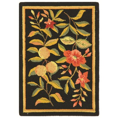 Helena Black Area Rug Rug Size: Rectangle 53 x 83