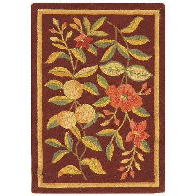 Helena Burgundy Area Rug Rug Size: Rectangle 18 x 26