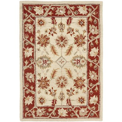 Helena Ivory/Rust Area Rug Rug Size: Rectangle 39 x 59