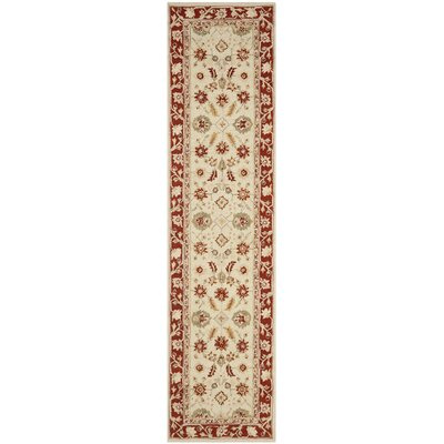 Helena Ivory/Rust Area Rug Rug Size: Runner 26 x 10