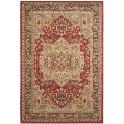 Coleraine Red Area Rug Rug Size: 10 x 14