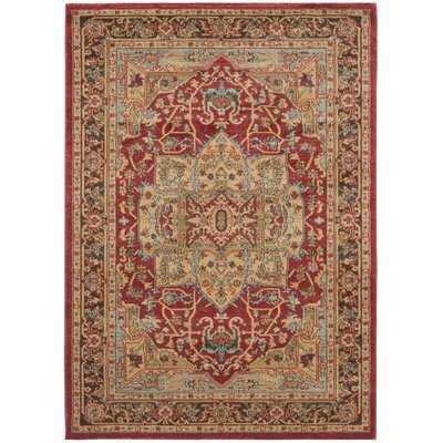 Coleraine Red/Brown Area Rug Rug Size: 4 x 57