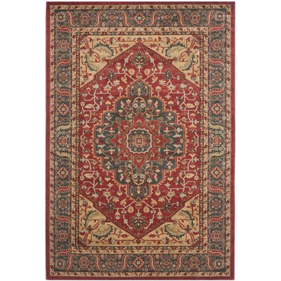 Coleraine Red Area Rug Rug Size: 51 x 77