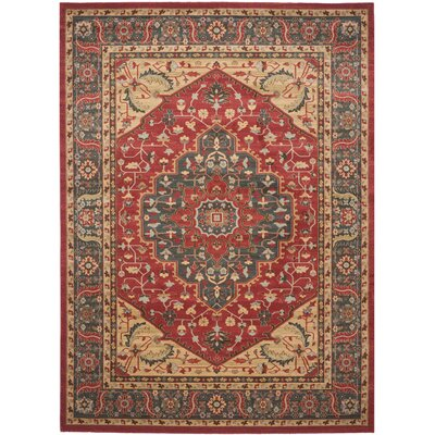 Coleraine Red Area Rug Rug Size: 8 x 11