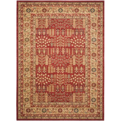 Coleraine Red/Natural Area Rug Rug Size: Runner 22 x 12