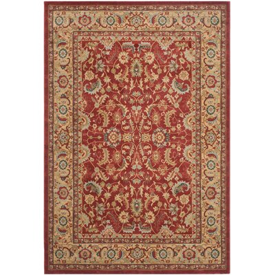Coleraine Red/Natural Area Rug Rug Size: Runner 22 x 10