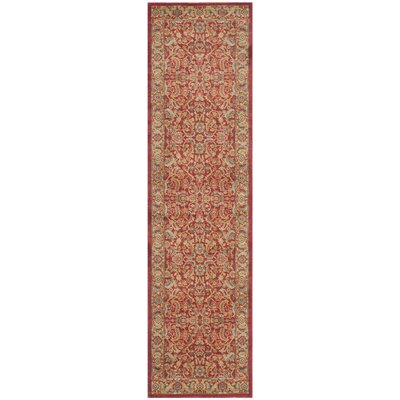 Coleraine Red Area Rug Rug Size: Runner 22 x 22