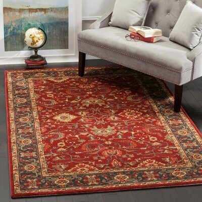 Coleraine Red Area Rug Rug Size: 67 x 92