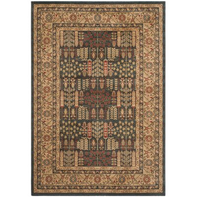 Coleraine Navy/Natural Area Rug Rug Size: 67 x 92