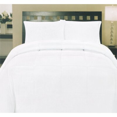 Morgan Down Alternative Comforter Size: Twin, Color: White