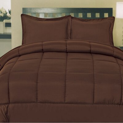 Morgan All Season Down Alternative Comforter Size: Full, Color: Brown