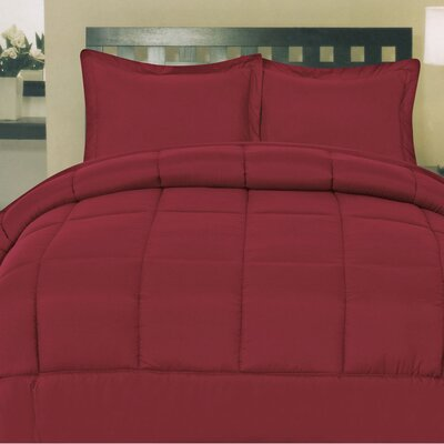 Morgan All Season Down Alternative Comforter Size: Queen, Color: Burgundy