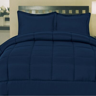 Morgan All Season Down Alternative Comforter Size: King, Color: Navy