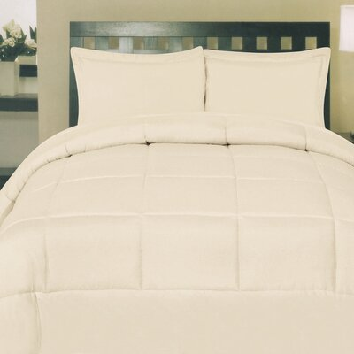 Morgan All Season Down Alternative Comforter Size: King, Color: Cream